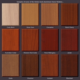 Timber Look Aluminium Frame Range